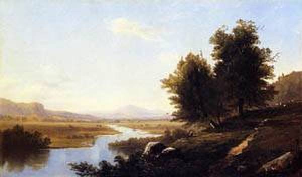 New big landscape the saco from conway 1867